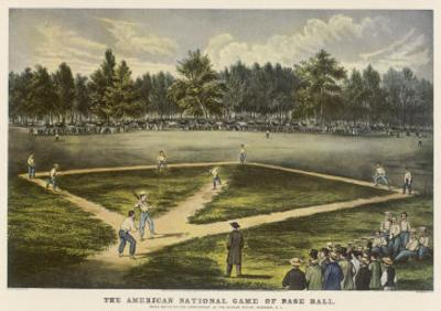 Grand Match for the Championship at the Elysian Fields Hoboken New Jersey by Currier & Ives