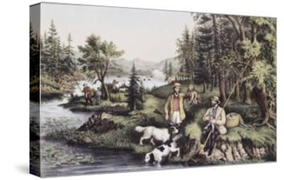 Hunting, Fishing and Forest Scene