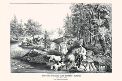 Hunting Fishing and Forest Scenes: Good Luck All Around