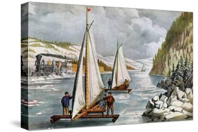 Ice Boat Race on the Hudson River, 19th Century
