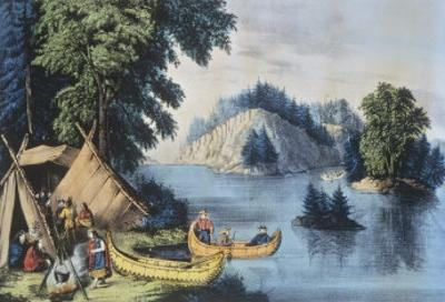 Indian Encampment on the St. Lawrence