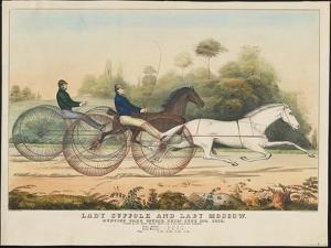Lady Suffolk' and 'Lady Moscow', Hunting Park Course, Philadelphia, 13th June, 1850 by Currier & Ives