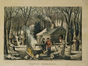 Maple Sugaring, Early Spring in the Northern Woods, 1872 by Currier & Ives