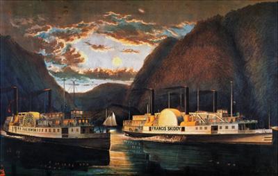 Night on the Hudson, 1864