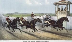 Off on the First Score by Currier & Ives