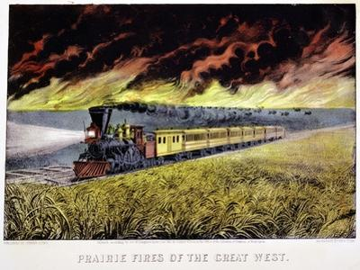 Prairie Fires of the Great West, USA, 1871