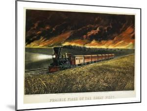 Prairie Fires of the Great West by Currier & Ives