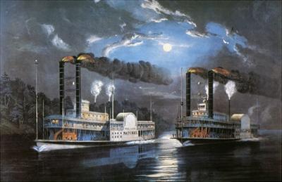 Race on Mississippi, 1860