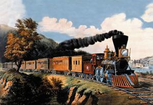 Steam Locomotive by Currier & Ives