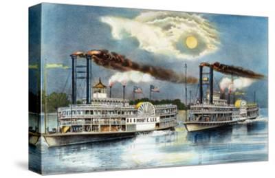 Steamboat Race, 1870