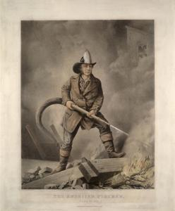 The American Fireman: Facing the Enemy by Currier & Ives