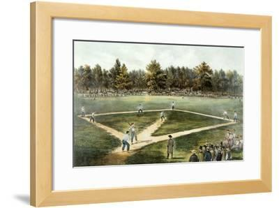 The American National Game of Baseball - Grand Match at Elysian Fields, Hoboken, Nj, 1866