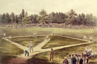 The American National Game of Baseball - Grand Match at Elysian Fields, Hoboken, Nj, 1866