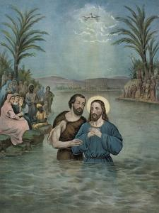 The Baptism of Jesus Christ by Currier & Ives