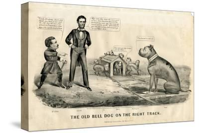 The Bull Dog on the Right Track, 1864