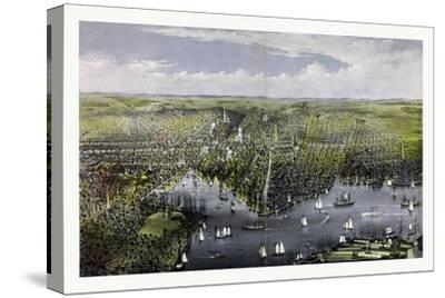 The City of Baltimore, Circa 1880, USA, America