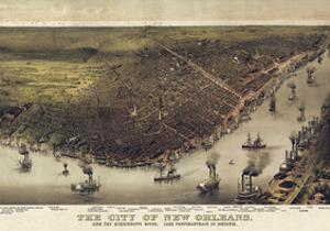The City of New Orleans, Louisiana, 1885 by Currier & Ives