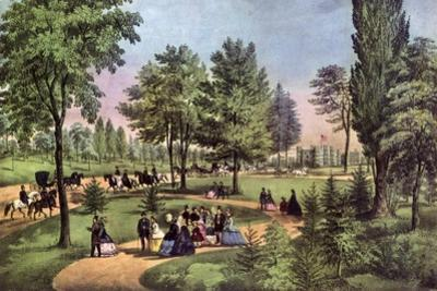 The Drive, Central Park, 1862