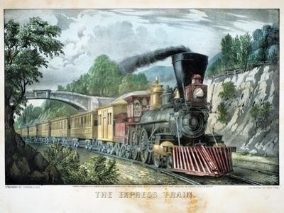 The Express Train, USA, 1870