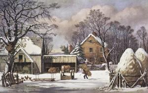 The Farmer's Home by Currier & Ives