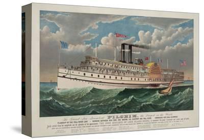 """The Grand New Steamboat """"Pilgrim"""", c. 1883"""
