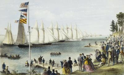 The New York Yacht Club Regatta, 1869 by Currier & Ives
