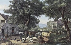 The Old Homestead by Currier & Ives