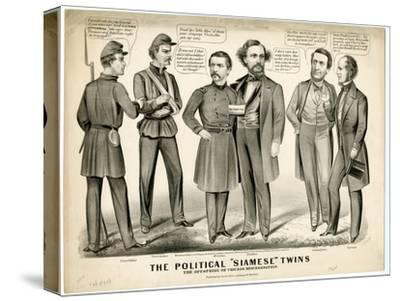 The Political Siamese Twins, the Offspring of Chicago Miscegenation, 1864