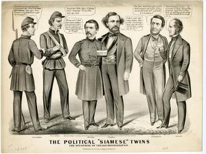 The Political Siamese Twins, the Offspring of Chicago Miscegenation, 1864 by Currier & Ives
