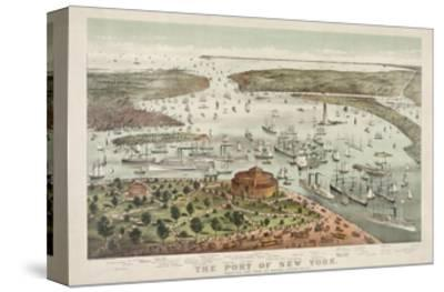 The Port of New York - Birds Eye View from the Battery, Looking South