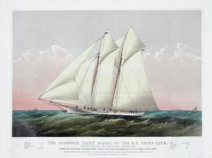 The Schooner Yacht Magic of the New York Yacht Club by Currier & Ives