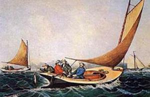 Trolling for Blue Fish by Currier & Ives