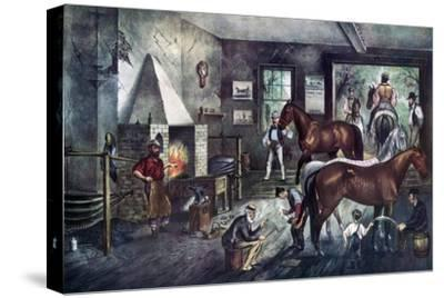Trotting Cracks at the Forge, 1869