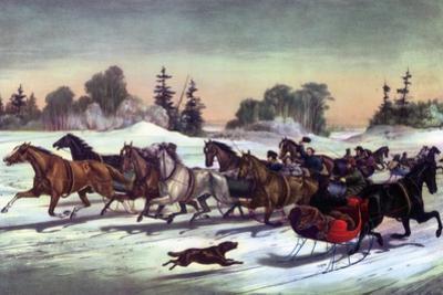 Trotting Cracks on the Snow, 1858
