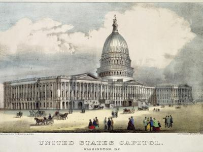 United States Capitol by Currier & Ives
