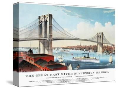 View of Brooklyn Bridge by Currier & Ives