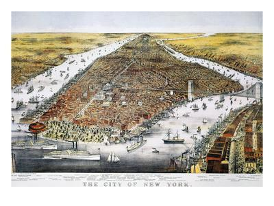 View of New York, 1876