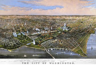 Washington, DC, 1880 by Currier & Ives