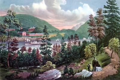 West Point, Us Military Academy, from the Opposite Shore, 1862