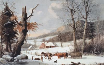 Winter in the Country, Homeward from the Wood