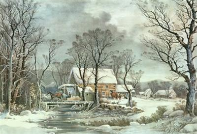 Winter in the Country - the Old Grist Mill, 1864