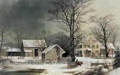 Winter in the Country: Wood for the Inn