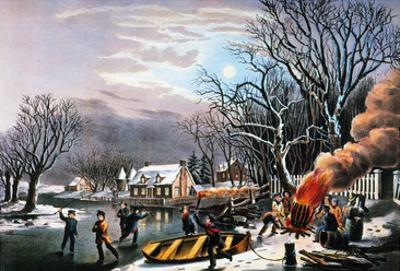 Winter Scene: Evening 1854