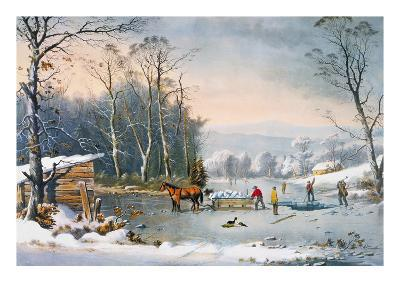 Currier & Ives Winter Scene-Currier & Ives-Giclee Print