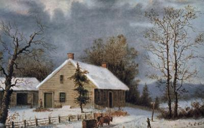 Winter Wood by Currier & Ives