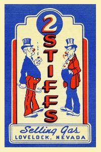 2 Stiffs Selling Gas by Curt Teich & Company