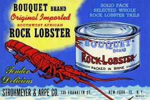 Bouquet Brand Rock Lobster by Curt Teich & Company