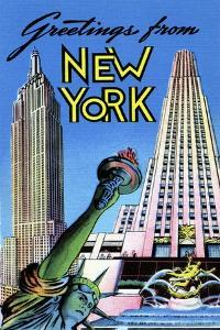 Greetings From New York by Curt Teich & Company