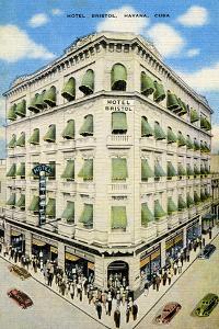 Hotel Bristol, Havana, Cuba by Curt Teich & Company