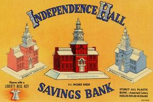 Independence Hall Savings Bank by Curt Teich & Company